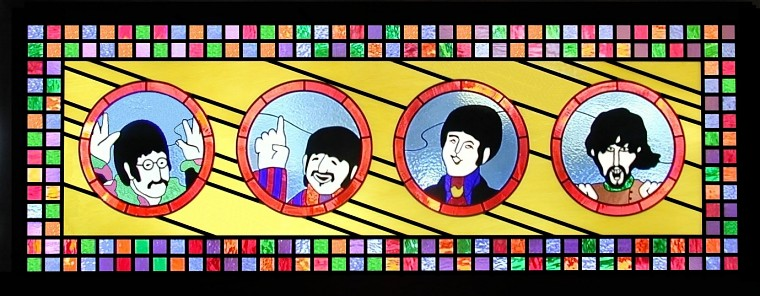 beatles stained glass