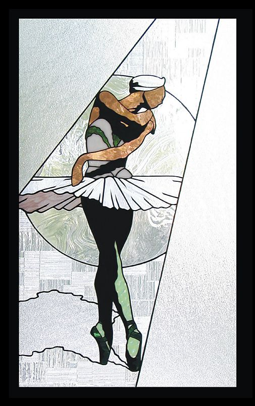 ballet stained glass,swan lake stained glass