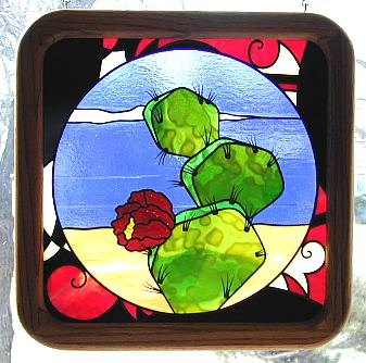 cactus stained glass