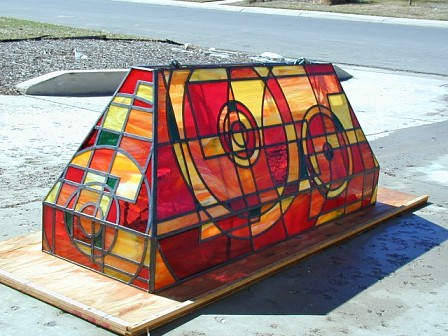 custom stained glass lamp shade
