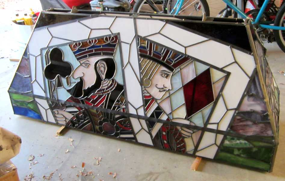 custom stained glass poker table lampshade
