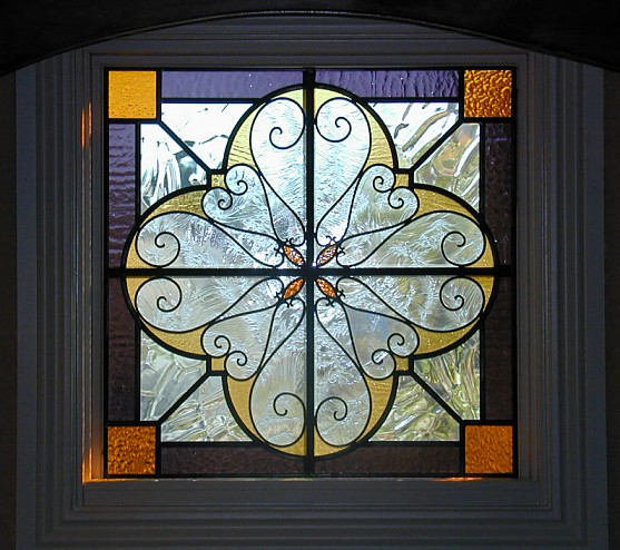 wrought iron stained glass