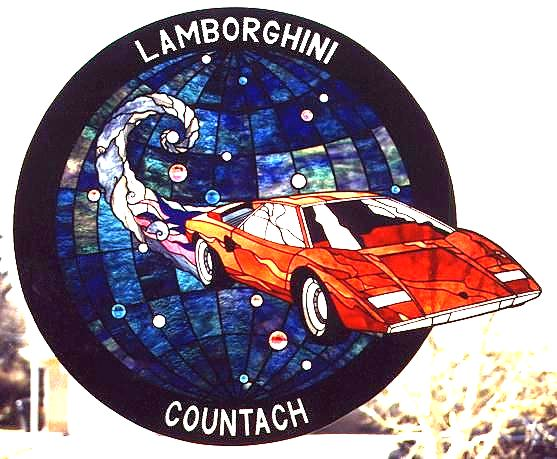lamborghini stained glass