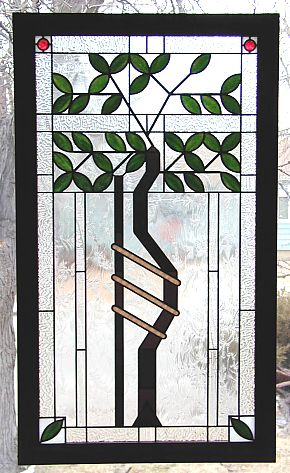 stained glass business sign