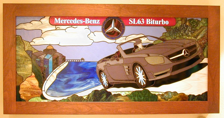 mercedes stained glass