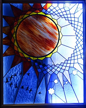 moon stained glass