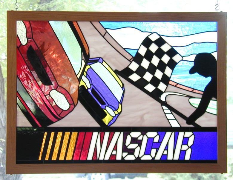 nascar stained glass
