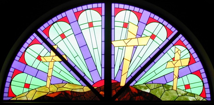 racine bible church stained glass