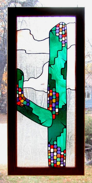 stained glass cactus