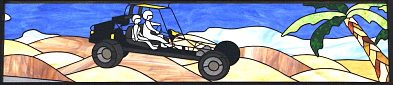 stained glass dune buggy