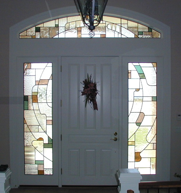 stained glass entry