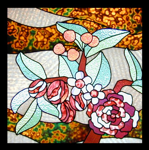 stained glass fabric