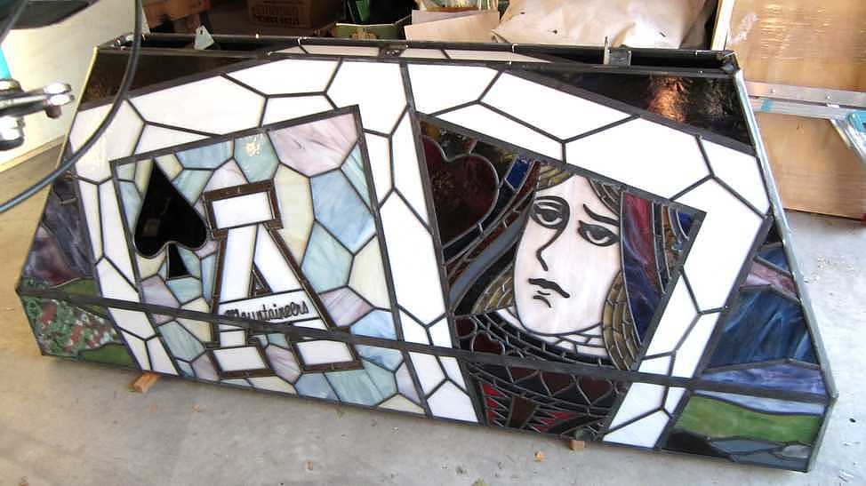 stained glass poker table lighting