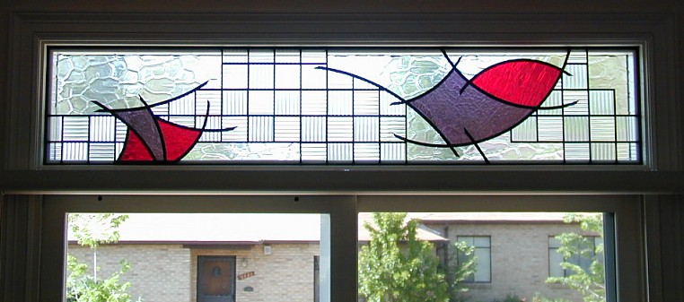 abstract stained glass,stained glass transom,transom window