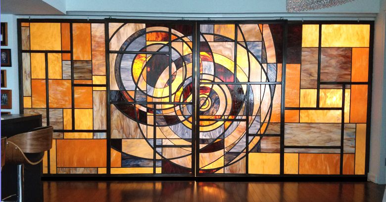 wall of stained glass,stained glass wall,contemporary glass wall