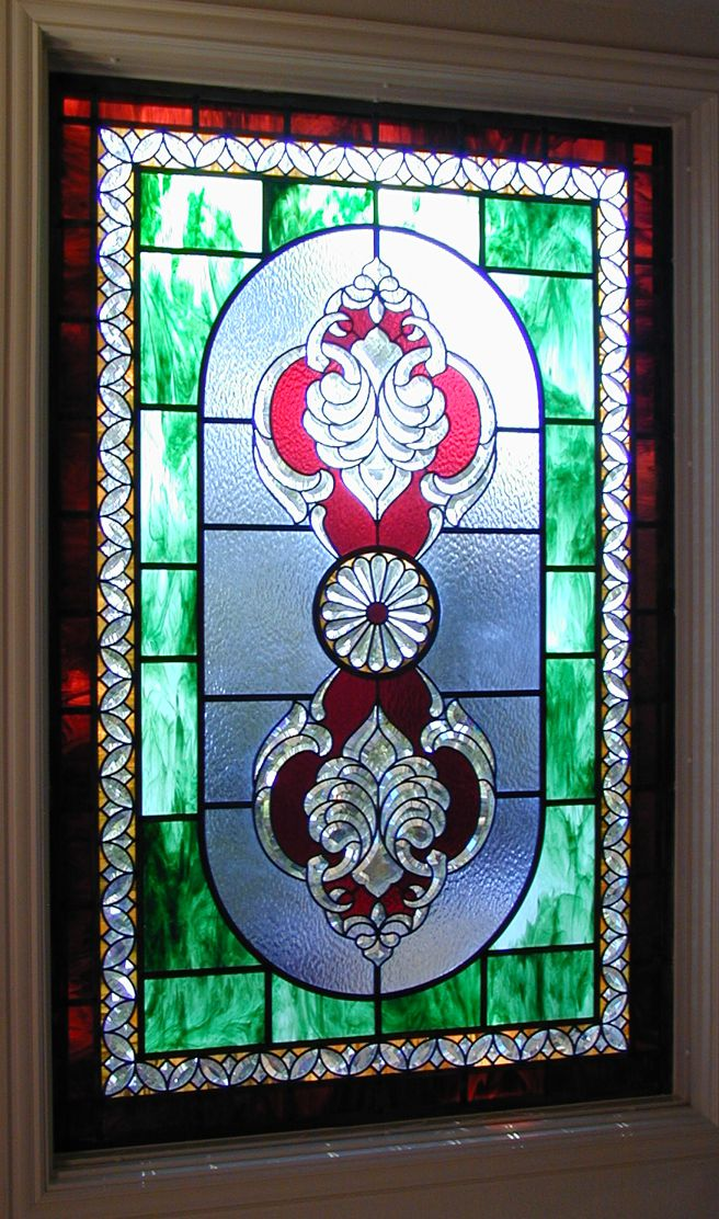 stained glass with bevels
