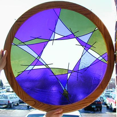 judaic stained glass,star of david stained glass