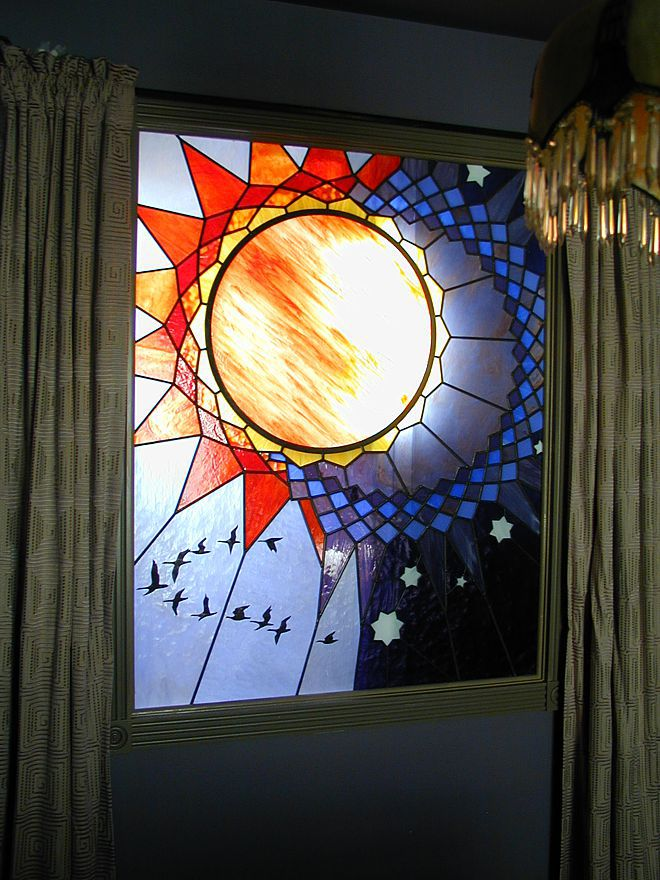 sun moon stars stained glass