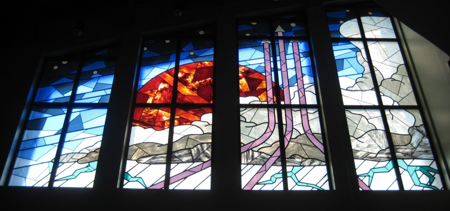 u.s. air force stained glass south wall